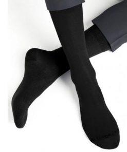 Kvalitets herrestrømper i sort