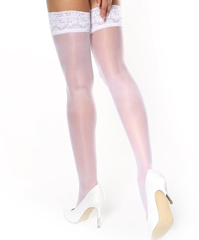 db8ef967183 MISSO selvsiddende strømper i hvid med blonde | StyleLegs.dk