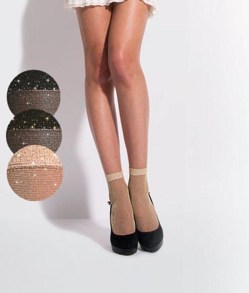 Brooke ankelstrømpe med glimmer fra Jolie Folie