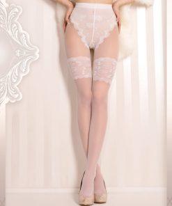 Elegante bryllupsstrømper med stayup look