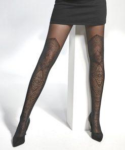 Elegante strømpebukser med overknee look
