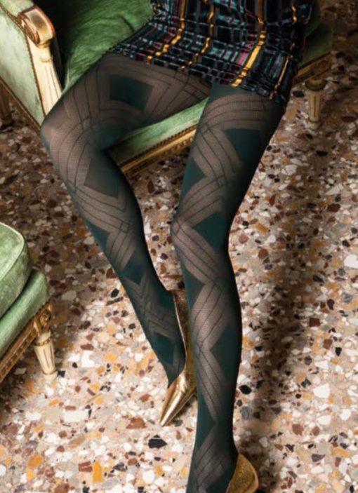 Fata strømpebukser i grøn eller sort fra Trasparenze