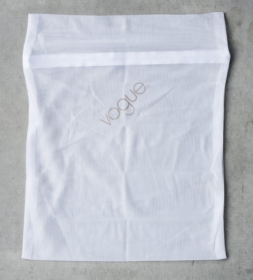 Vaskepose i hvid polyester fra Vouge