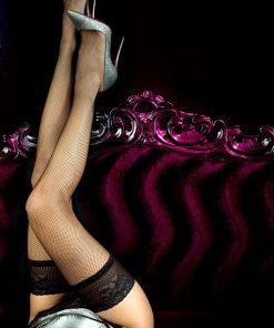 Selvsiddende strømper i net fra Ballerina